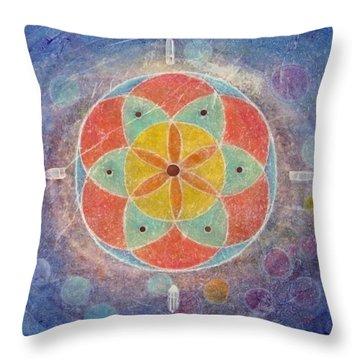 Seed Of Life Mandala Throw Pillow