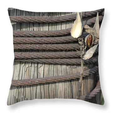 Seed Pod Iron And Wood Throw Pillow