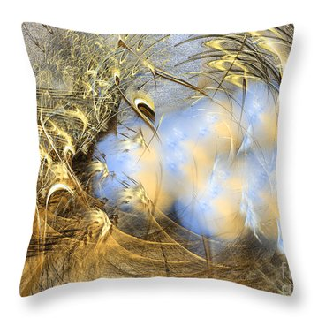 Seeds Of Peace -abstract Art Throw Pillow