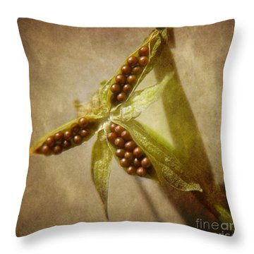 Seeds  Throw Pillow by Peggy Hughes