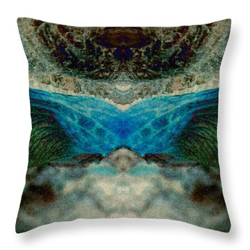 Seedwings Throw Pillow by WB Johnston