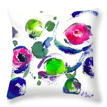 Throw Pillow featuring the painting Seeing Through Circles by Frank Bright