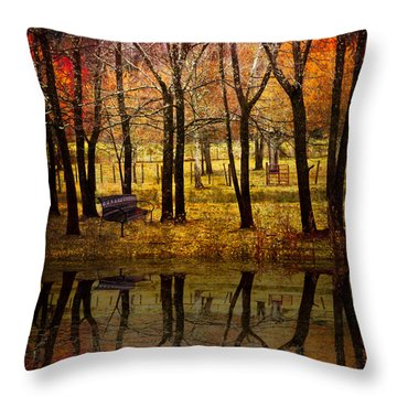 Seeing You Again Throw Pillow by Debra and Dave Vanderlaan