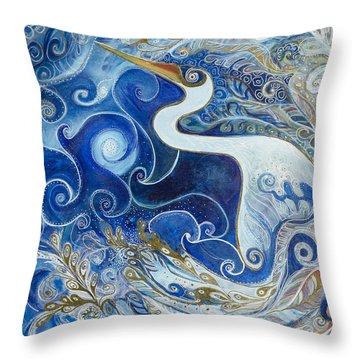 Seeking Balance Throw Pillow by Leela Payne