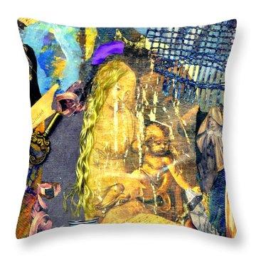 Seeking Throw Pillow by Gail Kirtz