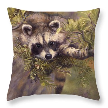 Seeking Mischief Throw Pillow