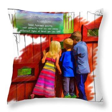 Seeking Songbirds Throw Pillow