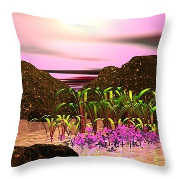 Throw Pillow featuring the digital art Seeking That Shalom Peace by Jacqueline Lloyd