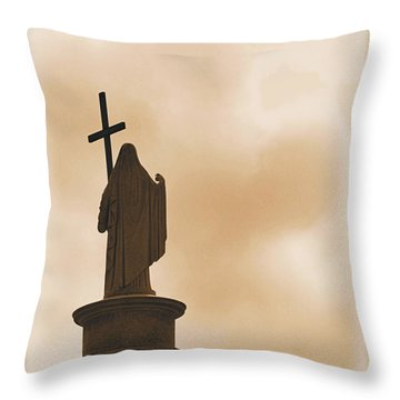 Throw Pillow featuring the photograph Seeking The Divine by Nadalyn Larsen