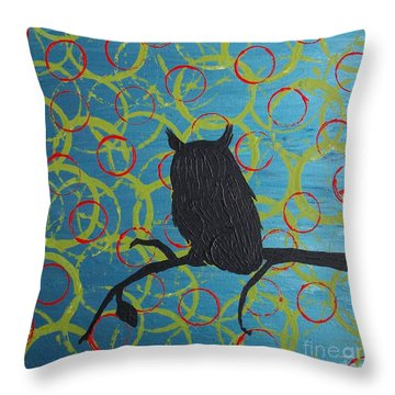 Throw Pillow featuring the painting Seer by Jacqueline McReynolds