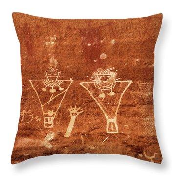 Sego Canyon Rock Art Throw Pillow