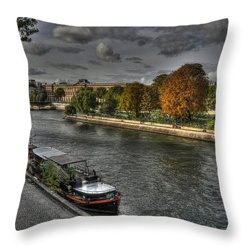 Seine Study Number One Throw Pillow