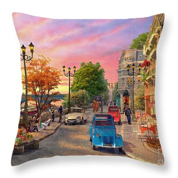 Seine Sunset Throw Pillow