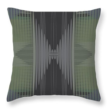 Throw Pillow featuring the digital art Seismic Rug 2 by Kevin McLaughlin