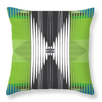 Throw Pillow featuring the digital art Seismic Rug by Kevin McLaughlin