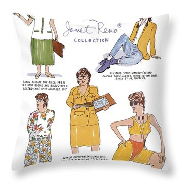 Selections From The Janet Reno Collection Throw Pillow