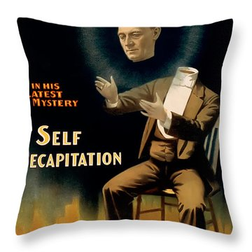 Self Decapitation Throw Pillow