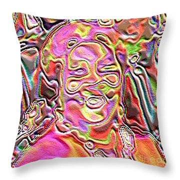Throw Pillow featuring the digital art Self by Jacqueline Lloyd