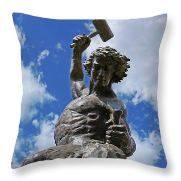 Self Made Man Throw Pillow