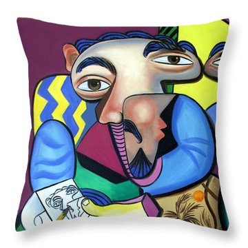 Self Portrait 101 Throw Pillow by Anthony Falbo