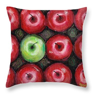 Throw Pillow featuring the painting Self Portrait 2 by Shana Rowe Jackson