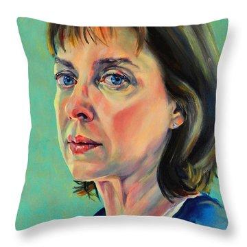 Self Portrait 2011 Throw Pillow by Jolante Hesse