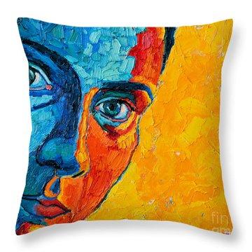 Self Portrait Throw Pillow by Ana Maria Edulescu
