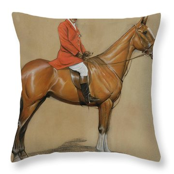 Self Portrait  Throw Pillow by Cecil Charles Windsor Aldin