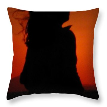 Throw Pillow featuring the photograph Self Portrait by Colette V Hera  Guggenheim