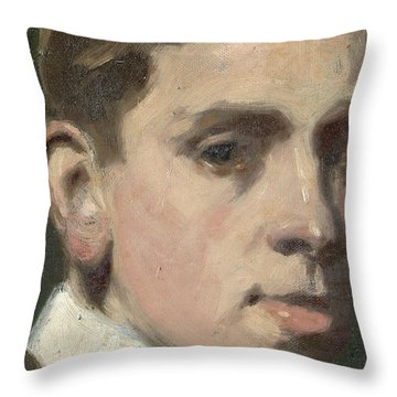 Self Portrait Throw Pillow by Francis Campbell Boileau Cadell