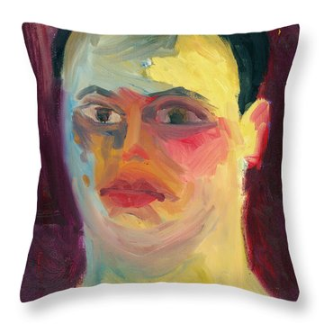 Self Portrait Oil Panting Throw Pillow