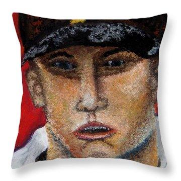 Self Portrait-oil Pastels Throw Pillow