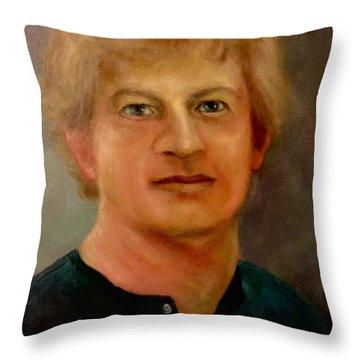 Self Portrait Throw Pillow by Randy Burns
