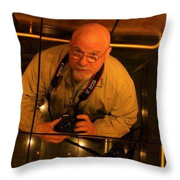 Self Portrait Throw Pillow by Reid Callaway