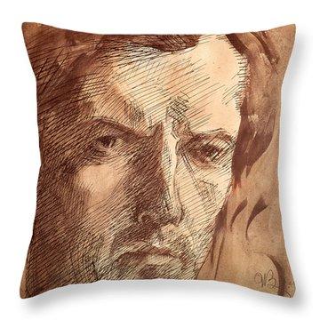 Self Portrait Throw Pillow by Umberto Boccioni