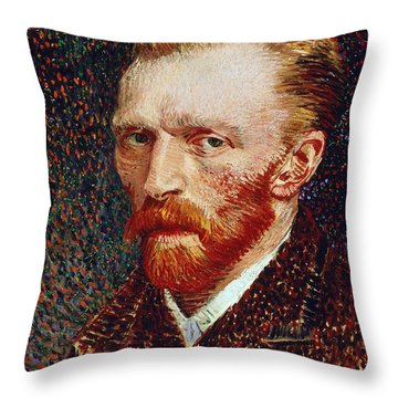 Self-portrait Throw Pillow by Vincent van Gogh