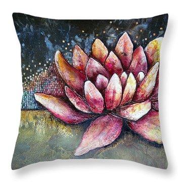 Self Portrait With Lotus Throw Pillow