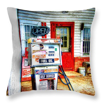 Throw Pillow featuring the photograph Self Service by Craig T Burgwardt