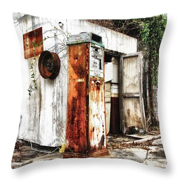 Self Service Throw Pillow