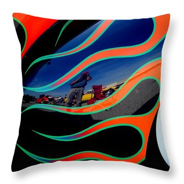 Self Shot Throw Pillow by Frozen in Time Fine Art Photography
