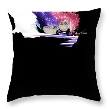 Selfless Women Throw Pillow by Ann Calvo