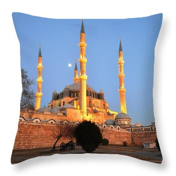 Selimiye Mosque In Edirne Throw Pillow