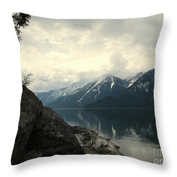 Selkirks In The Spring Throw Pillow