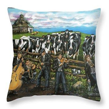 Semi-formal Throw Pillow by Linda Simon
