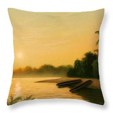 Seminole Sunset Throw Pillow