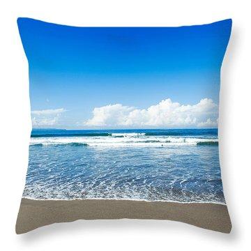 Seminyak Beach Throw Pillow by Yew Kwang