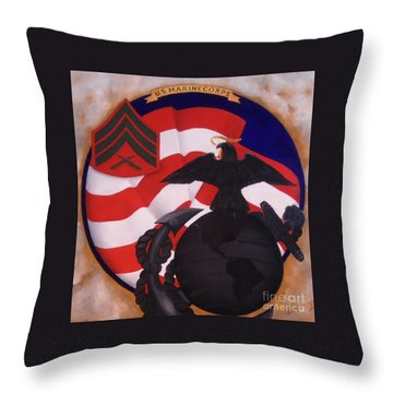 Semper Fidelis Throw Pillow by D L Gerring