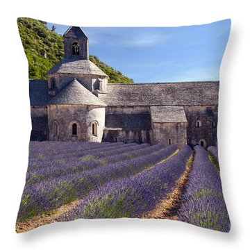 Senanque Abbey Throw Pillow by Bob Phillips