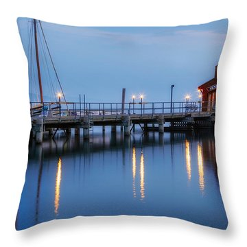 Seneca Lake Throw Pillow by Bill Wakeley