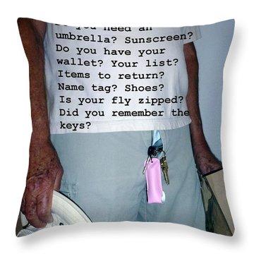 Senior Check List  Throw Pillow by Barbie Corbett-Newmin